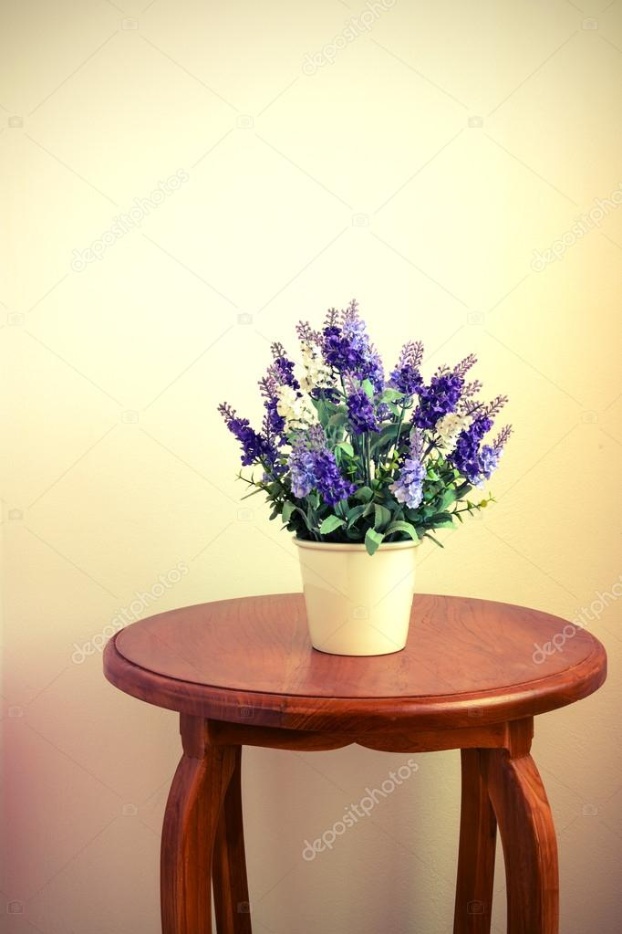 Lavender in flower pot