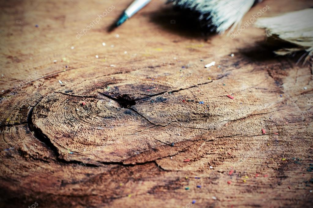Old crack wood textured — Stock Photo