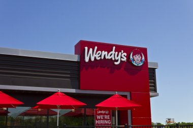 Indianapolis - Circa June 2016: Wendy's Retail Location. Wendy's is an International Fast Food Restaurant Chain IV