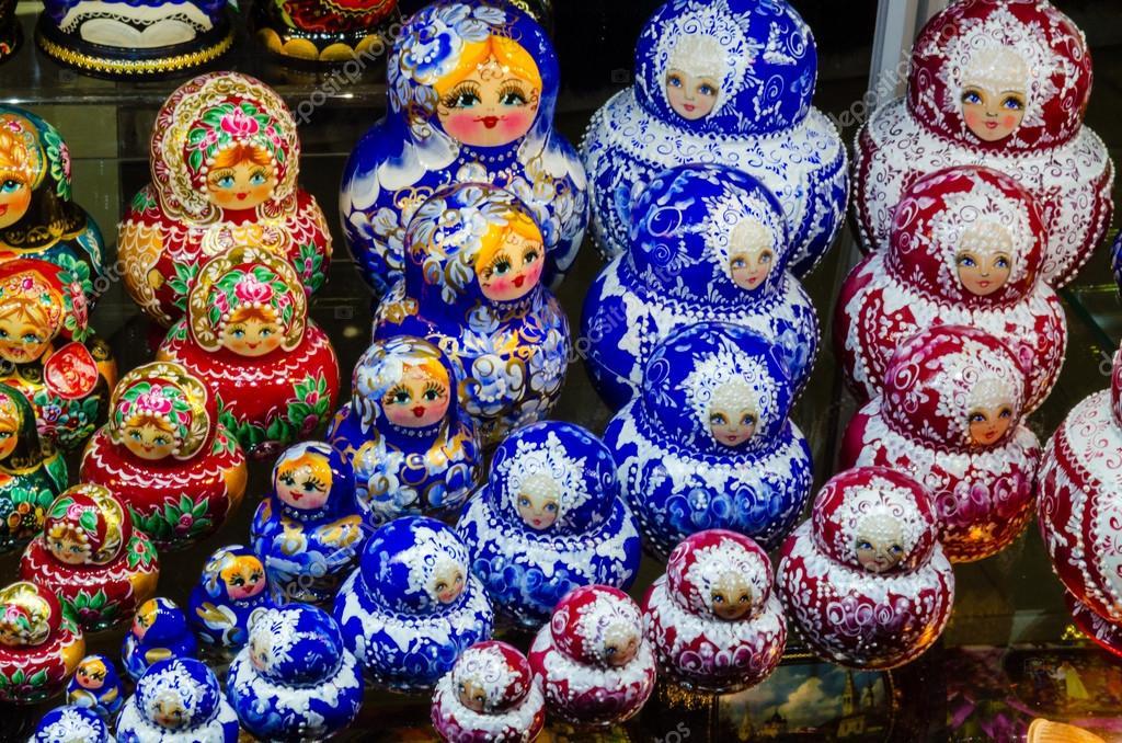 Russian national dolls matreshka
