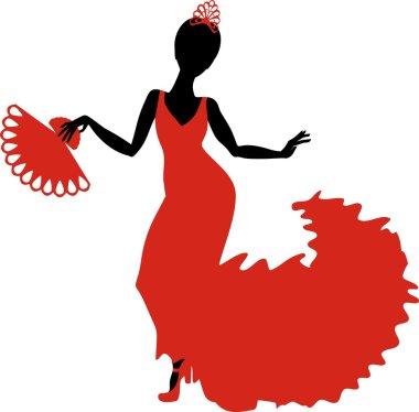 Flamenco dancer silhouette
