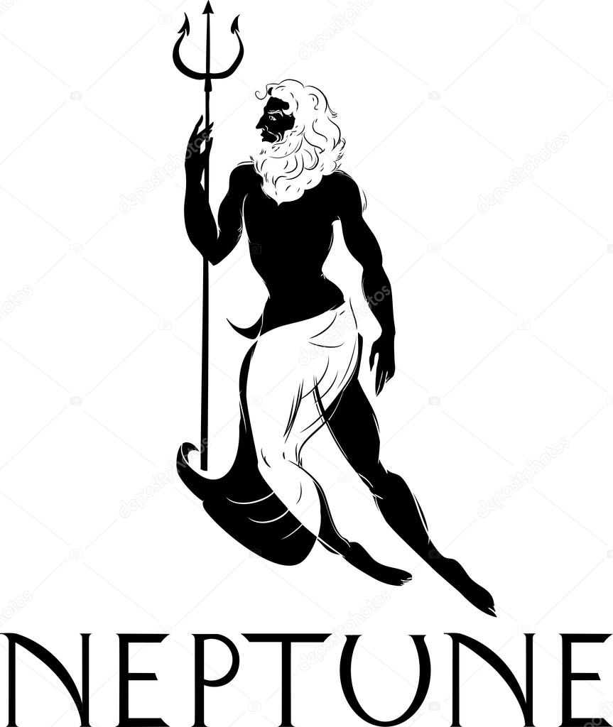 Neptune the god of sea — Stock Vector © mariaflaya #102606230