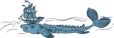 Echeneis - legendary sea creature