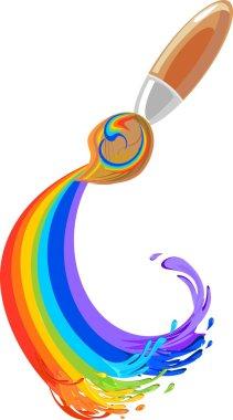 Brush and rainbow