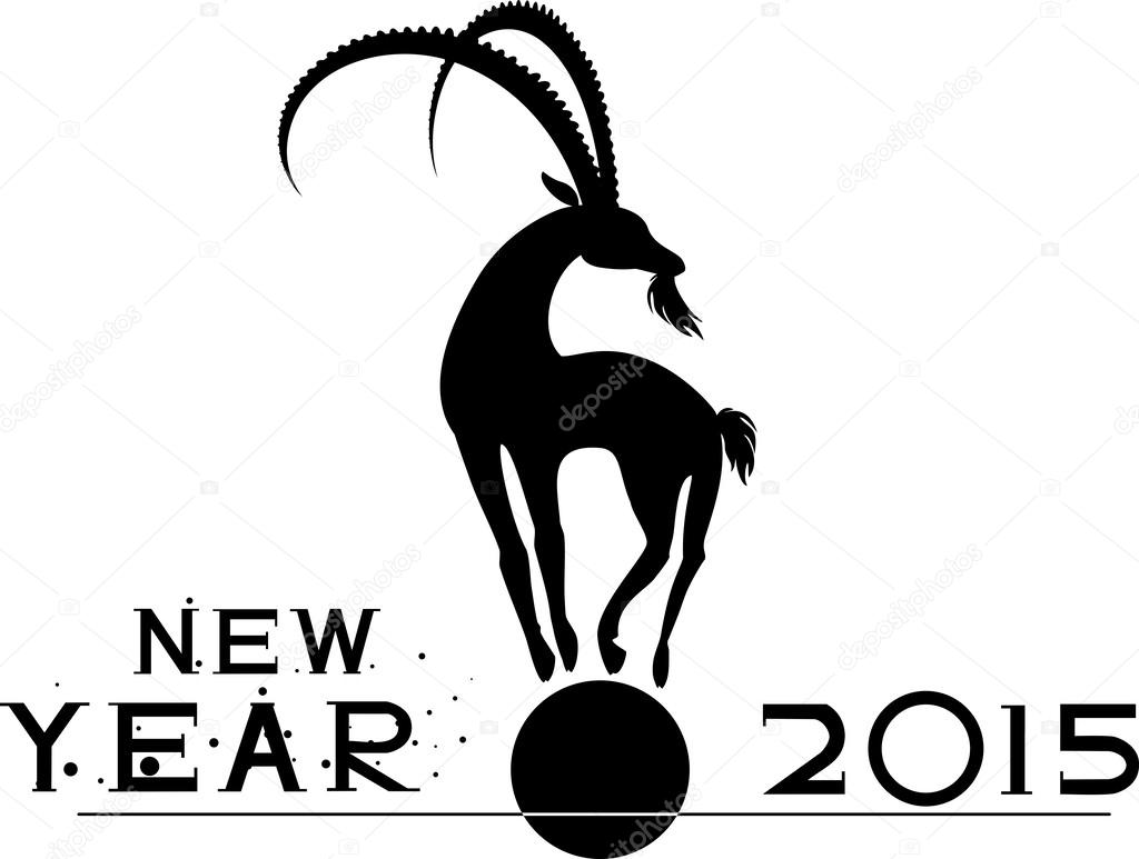 Mountain-goat symbol of the new year