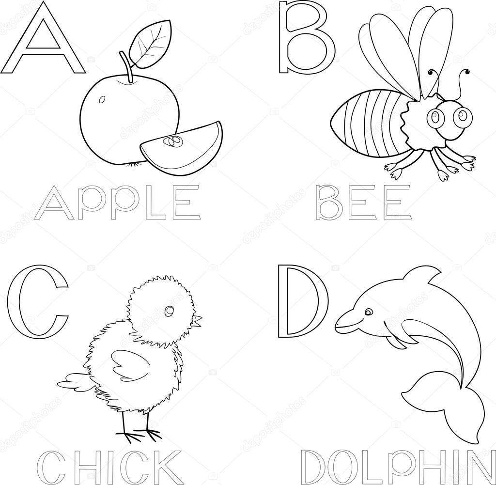 Jeux Coloriage Alphabet.Jeu De Coloriage Alphabet Image Vectorielle Mariaflaya C 87449614
