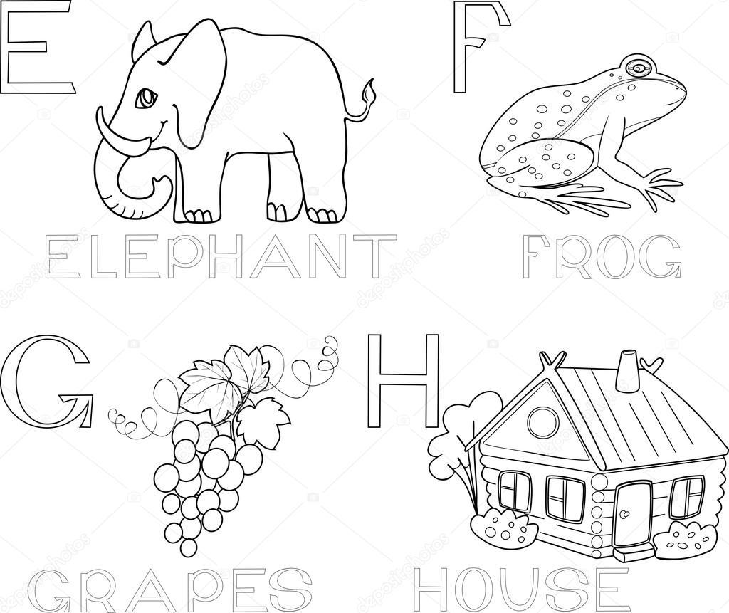 Jeux Coloriage Alphabet.Jeu De Coloriage Alphabet Image Vectorielle Mariaflaya C 87449758