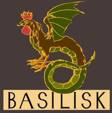 Basilisk with title