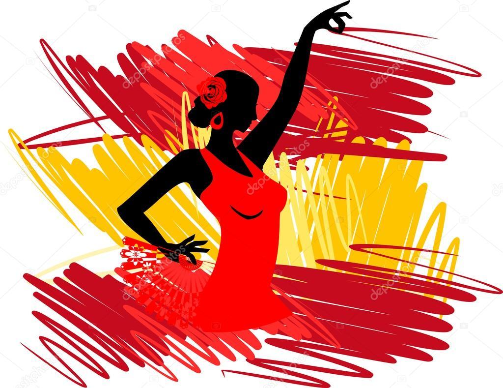 Danseuse de flamenco sur fond de drapeau espagnol image vectorielle mariaflaya 88052290 - Image drapeau espagnol a imprimer ...
