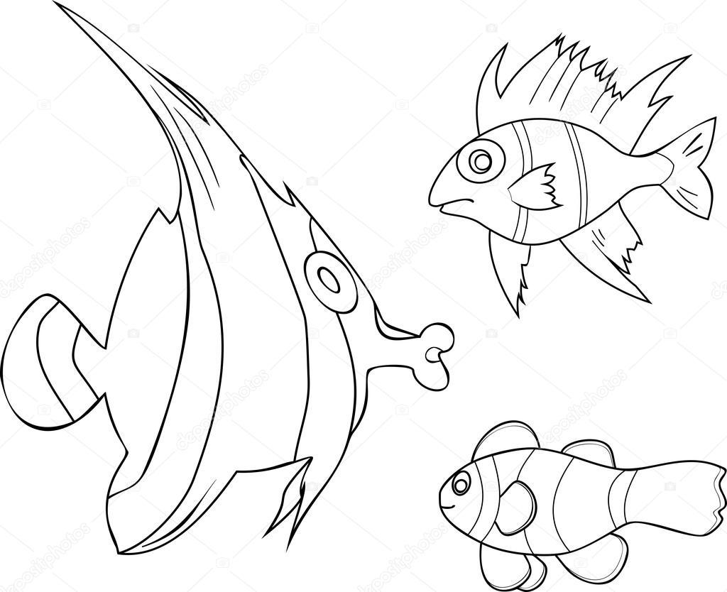 disegni di pesci tropicali da colorare disegni da
