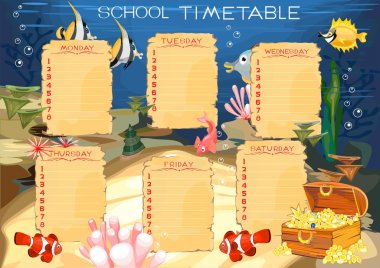 Timetable with Underwater World