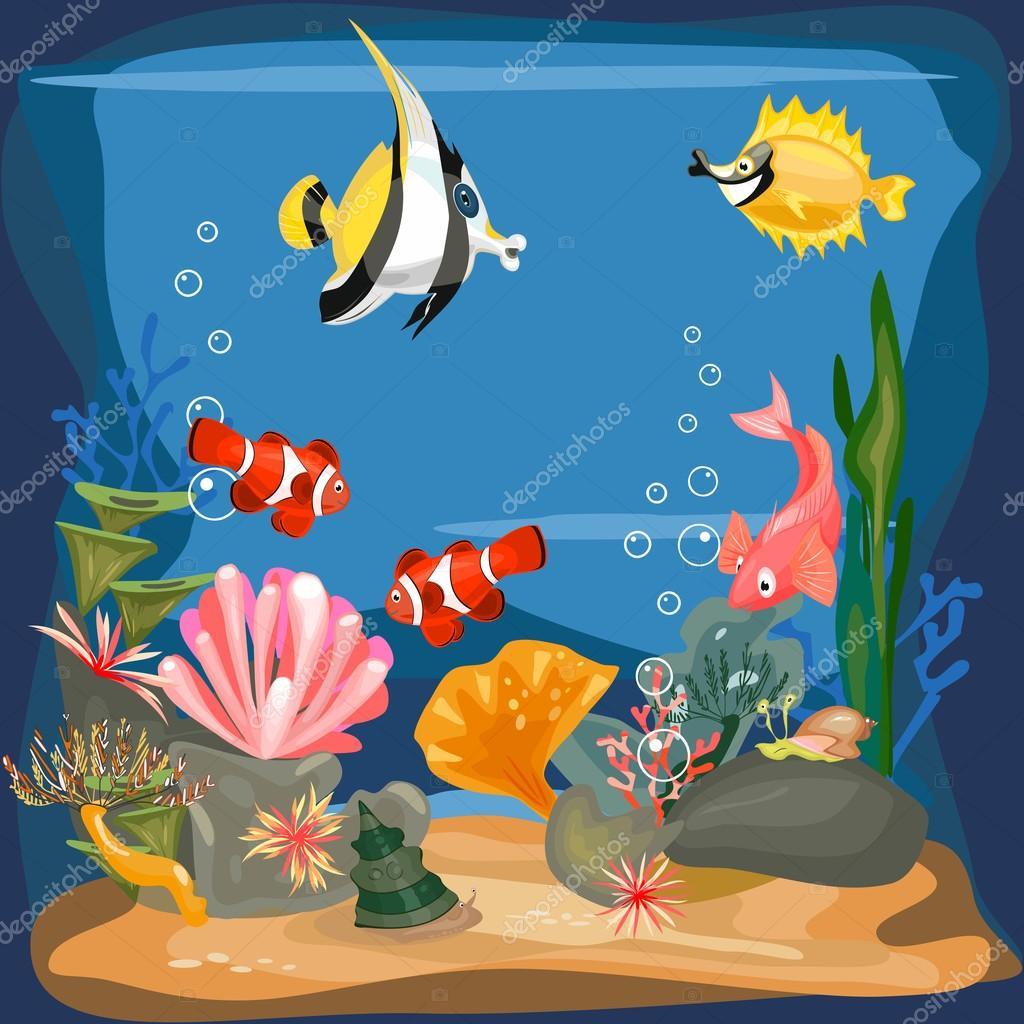background underwater landscape