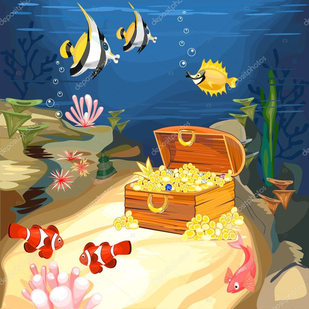 Underwater World with Tropical Fish