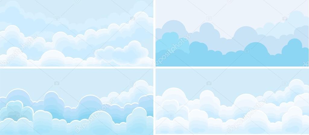 Sky and cloud set