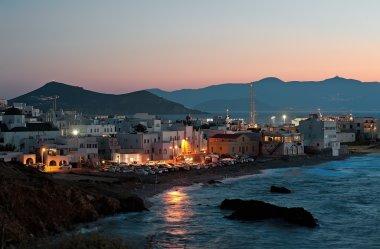 Night scene of Chora, Naxos, Greece
