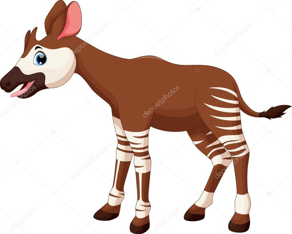 how to draw an okapi