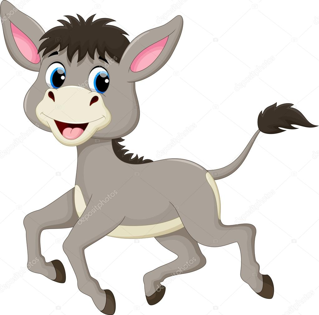 dibujos animados graciosos burro — Vector de stock ...