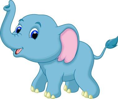 Cute elephant cartoon stock vector