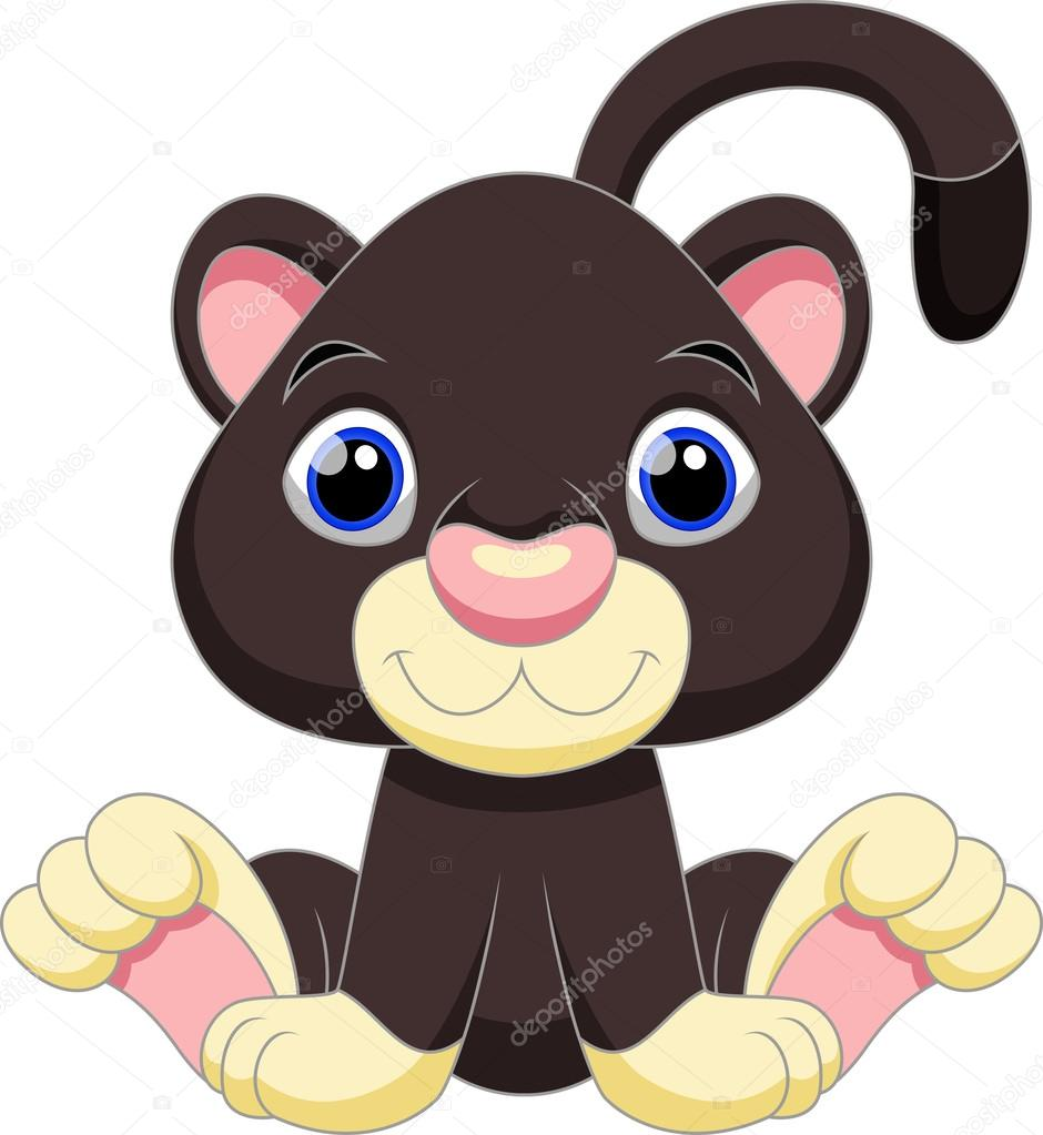 Dibujos animados de pantera negra — vector stock