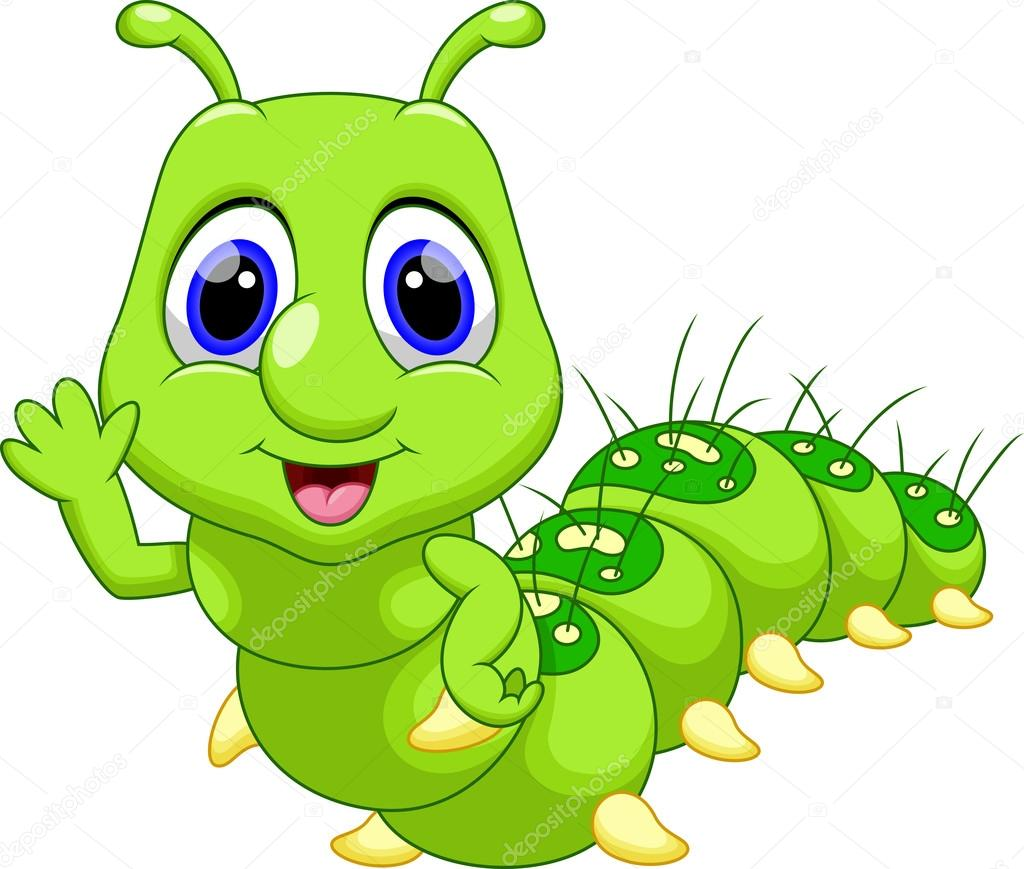 Funny Caterpillar Cartoon Stock Vector C Irwanjos2 68523973