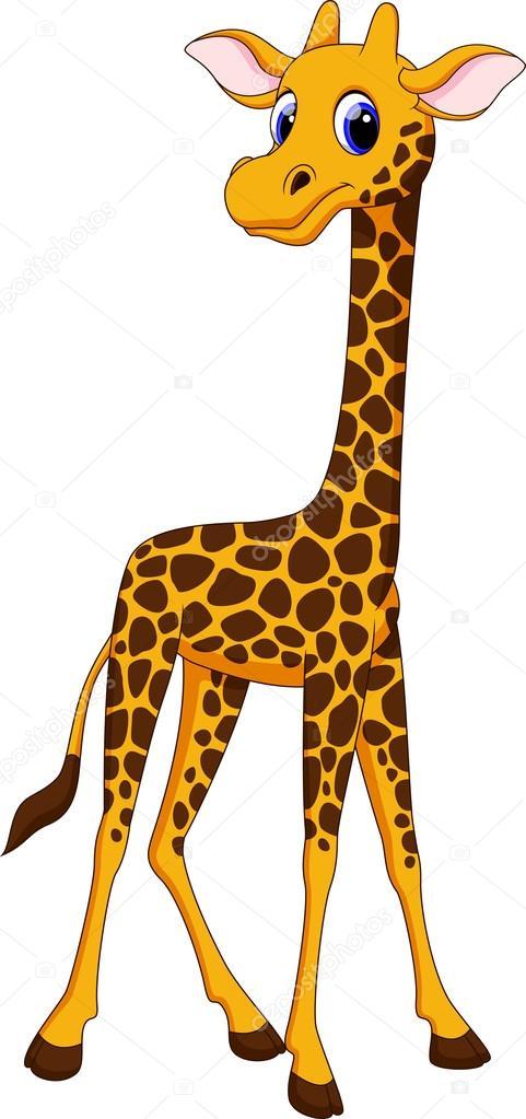 cute giraffe cartoon stock vector  u00a9 irwanjos2 68526389 clip art of giraffe eyes clip art of giraffe valentine's