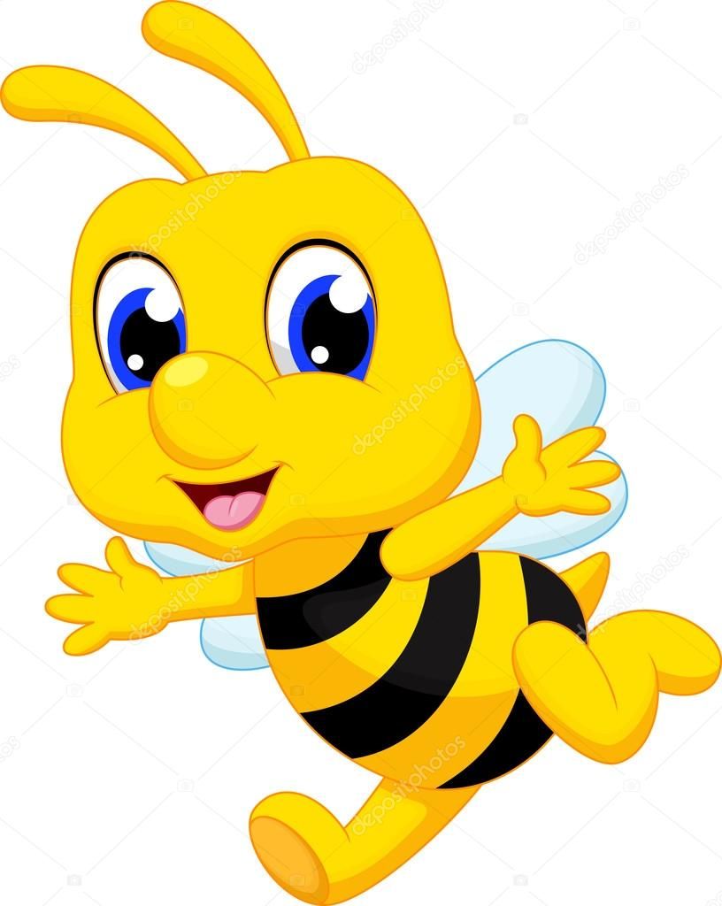 caricatura lindo abeja vector de stock  u00a9 irwanjos2 68527939 bees clipart pictures bee clipart panda