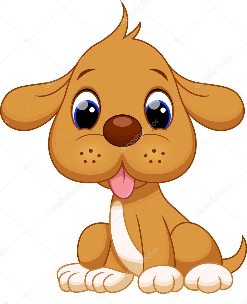 Cute Dog Cartoon Stock Vector C Irwanjos2 68620047