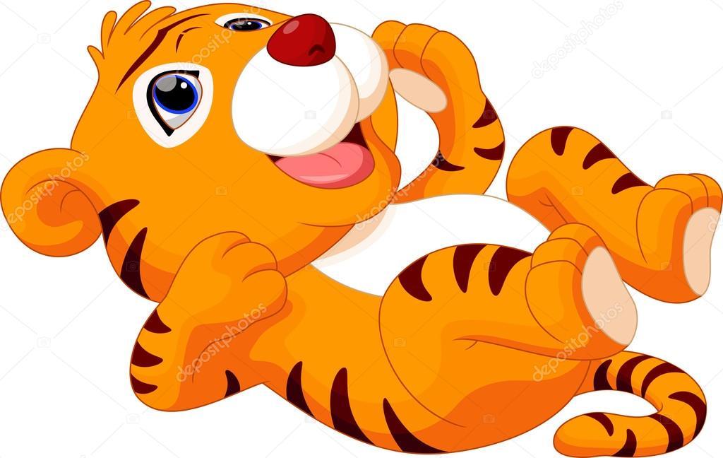 Tigre Gifs Animado: Tigre De Bebé De Dibujos Animados