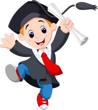 Graduating young man