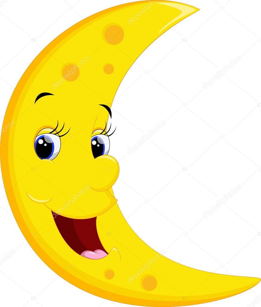 Sonrientes de dibujos animados de luna archivo im genes - Dibujos de lunas infantiles ...