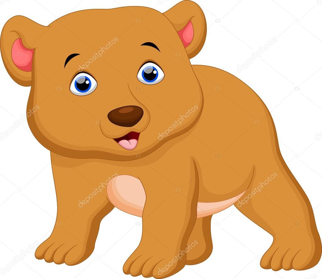 urso marrom bonito dos desenhos animados vetor de stock