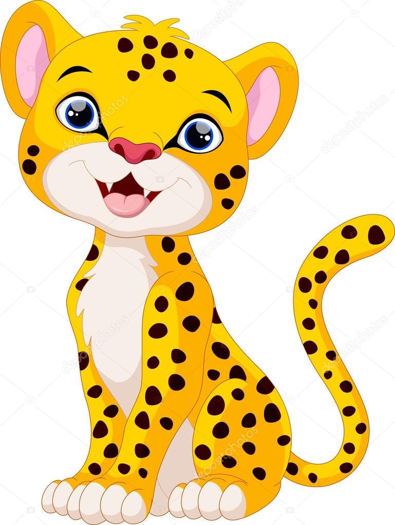 Cute Cheetah Cartoon Sitting — Stock Vector © Irwanjos2 ...