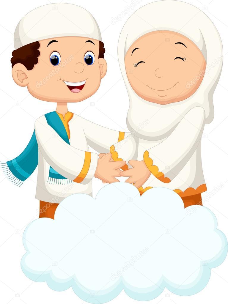 Muslim Couples Cartoon Stock Vector Irwanjos2 88024820