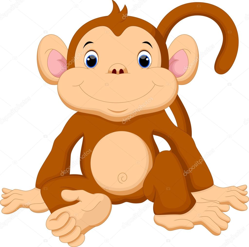 Stock Illustration Cute Monkey Cartoon