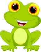 roztomilý žába karikatura