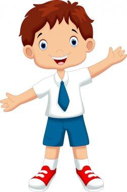 Cute boy in a school uniform