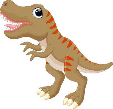 Funny cartoon tyrannosaurus
