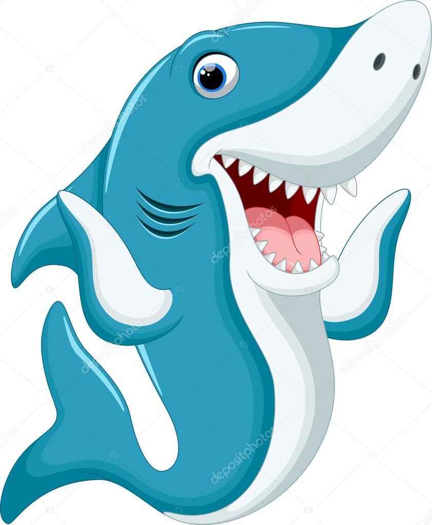 Desenhos Animados Engraçados Tubarão