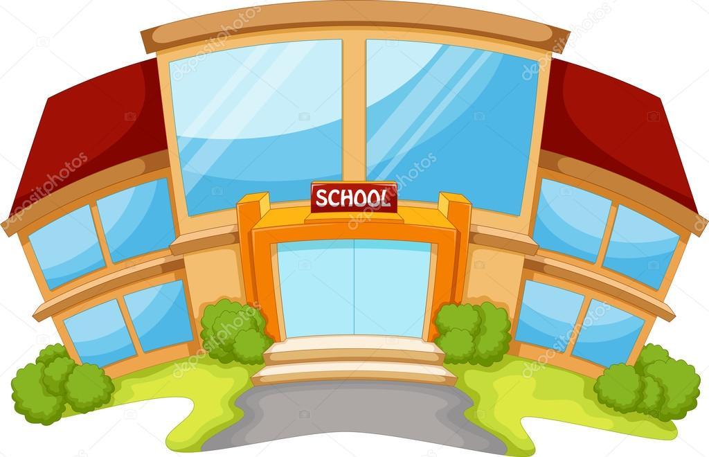 Escuela Que Construye Dibujo Animado