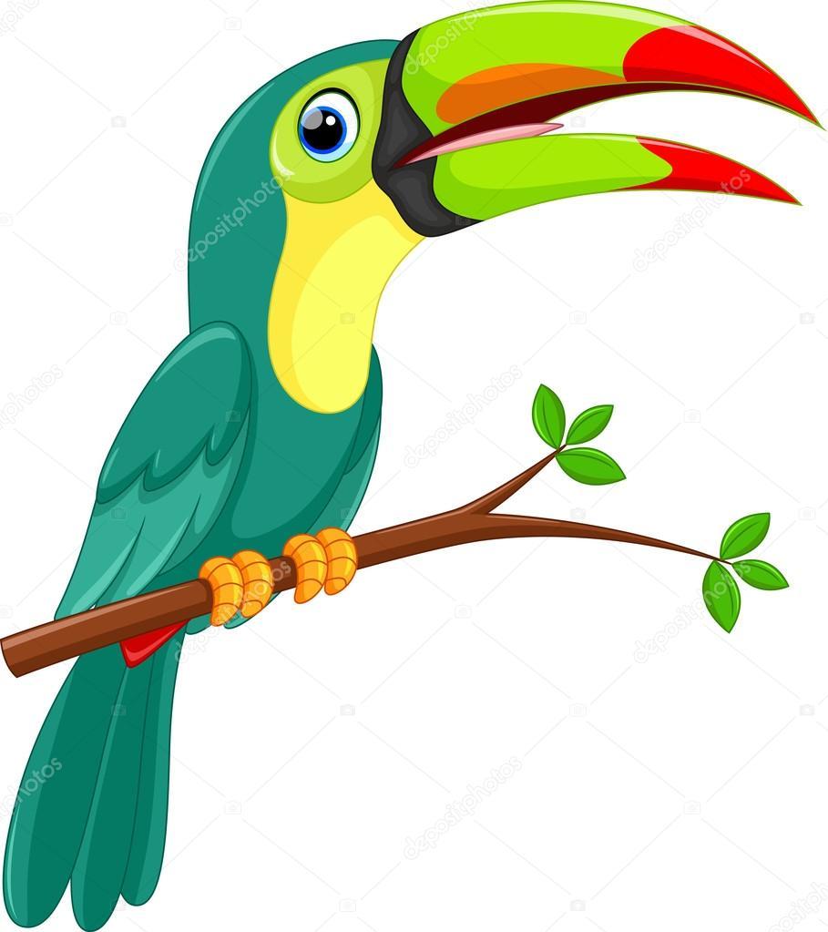 dibujos animados de pájaro Tucán lindo — Archivo Imágenes ...