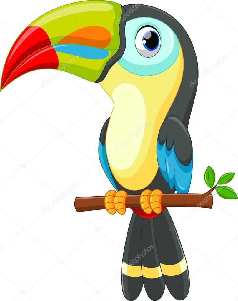 dibujos animados de pájaro Tucán lindo — Vector de stock © irwanjos2 ...