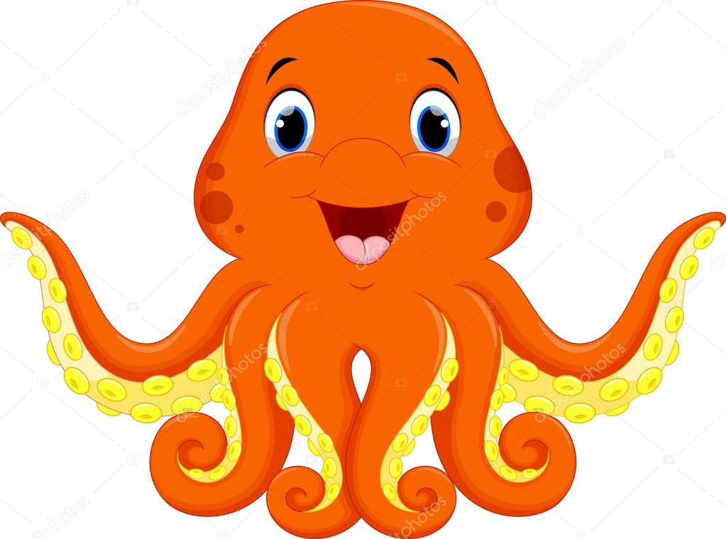 The gallery for cute baby squid cartoon for Baby octopus cartoon