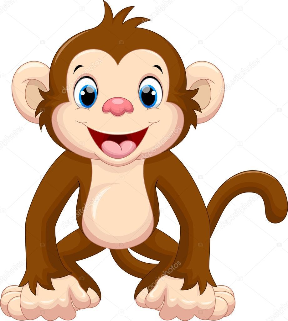 schattig aap cartoon stockvector  u00a9 irwanjos2 95757244 baby jungle animals clipart scriptures baby shower jungle animals clipart