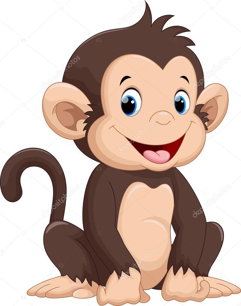 Dibujos animados mono lindo — archivo imágenes vectoriales