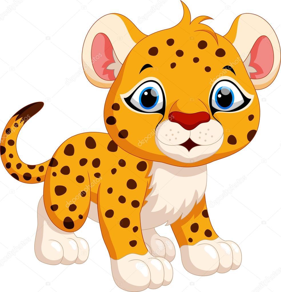 Cute Cheetah Cartoon — Stock Vector © Irwanjos2 #99899822