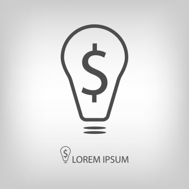 Bulb with dollar as business idea sign