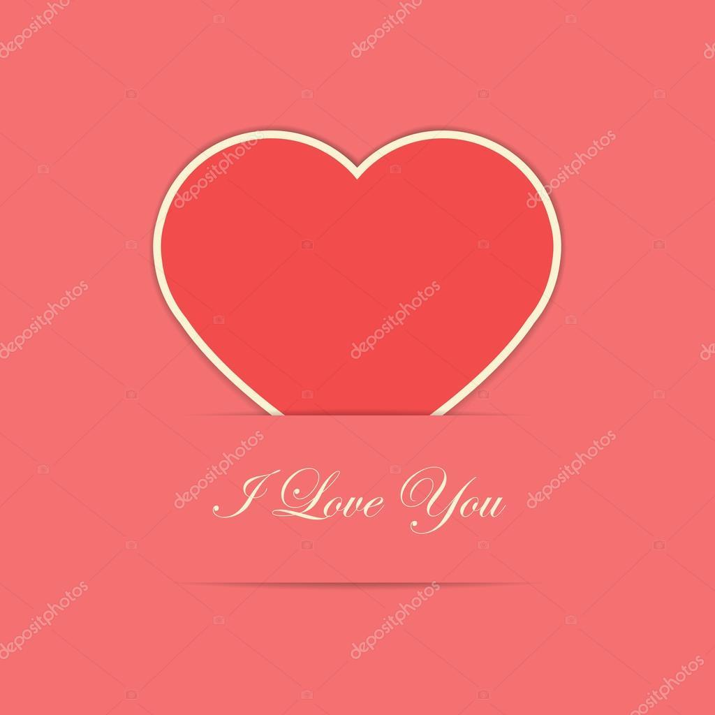 Valentinskarte mit roten Papier Herzen — Stockvektor © rinika #63319553
