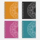 Sada krytů barevné zápisník s květinovým motivem