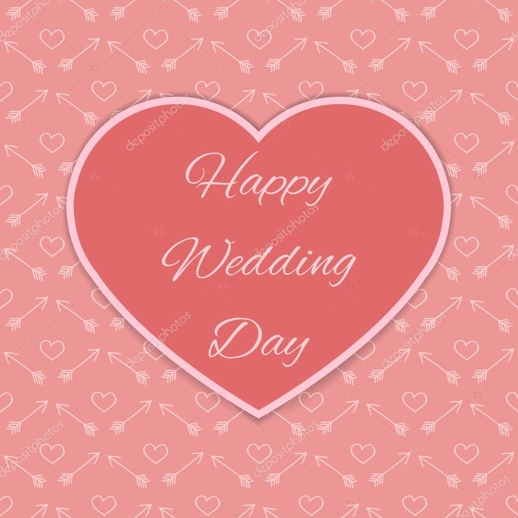 Happy Wedding Day Card Stock Vector 96090340