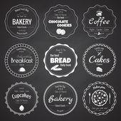 Satz von 9 Kreis-Bäckereietiketten